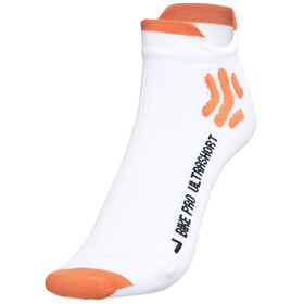X-Socks Bike Pro Ultrashort Fietssokken Heren oranje/wit